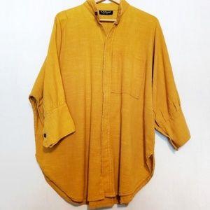 Dilemma Mustard Organic Cotton Top